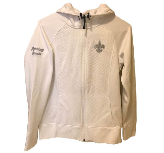 Womens White Full Zip Jacket