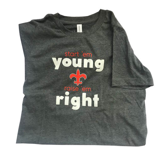 Youth Short Sleeve Grey T-Shirt